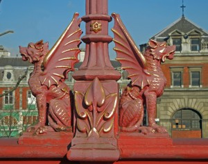 Dragons on Holborn Viaduct, City of London