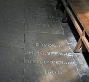 Southwark Cathedral - Edmond Shakespeare's burial place