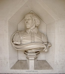 Shakepeare bust at Guildhall arcade