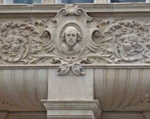 Shakespeare on Holbron Town Hall, New Oxford Street
