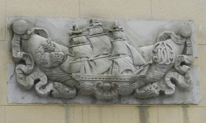 Ship at Post Office Court, Thomas Coutts monogram
