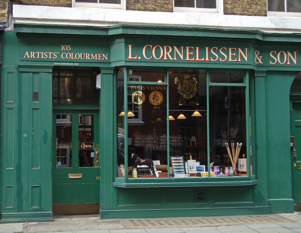 71c258a2acd Cornelissen   Son is an art supplier. The shop on Great Russell Street near  the British Museum was established in 1855.