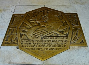 Selfridge plaque in entrance floor