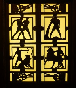The original doors of the lifts (elevators) at Selfridges are now in the Victoria and Albert Museum. They were little Art Deco works of art.
