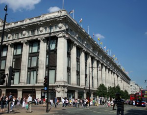 Selfridges on Oxford Street