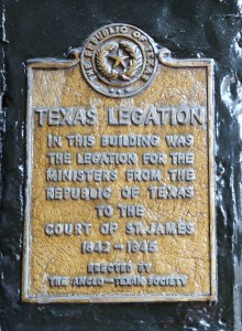 Interestingly, the Republic of Texas had an office above Berry Brothers wine shop from 1842-45. They wanted to be close to the political and diplomatic centre of St. James's Palace.