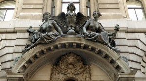 Lombard St, Royal Insurance Co - allegorical figures