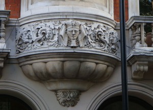 And this fierce Pharaoh is on the bottom of a window on Great Russell Street, near the British Museum, where you can see LOTS of real Egyptian artefacts!