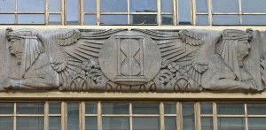Sphinxes on Lloyd's Bldg, Cornhill - former Commercial Union Assurance