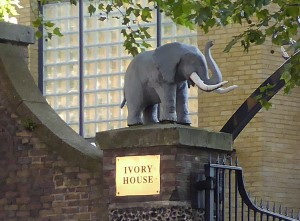 Elephant - Ivory House, East Smithfield gate to St Katherine's Dock