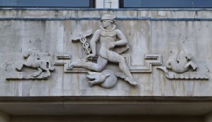 Mercury on Adelphi Bldg, Adelphi Terrace, off Stand