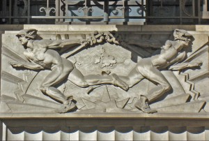 Mercury on Daily Telegraph building, 135 Fleet St