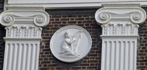 Musical roundel - Royal Society of Arts, John Adam Street