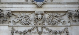 St. Paul's Cathedral, exterior - putti and trumpets