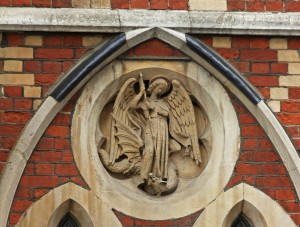 Angel and dragon - in London