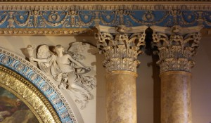 Greenwich Royal Hospital - Chapel, WInged Victory above altar painting