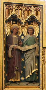 St. Helen's Bishopsgate - carved screen, angels