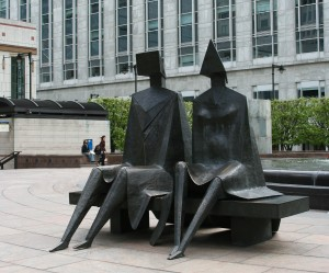 'The Couple' by Lynn Chadwick Canary Wharf